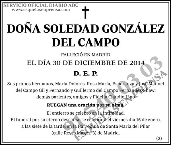 Soledad González del Campo